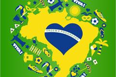 Link toBrazil world cup background design vector