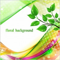 Link toBright abstract green floral background