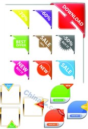 Link toBright angle vector labels template