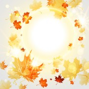 Link toBright autumn leaves vector backgrounds 09