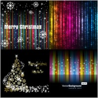 Link toBright background of the stars and snowflakes vector