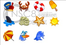 Link toBright beach series icons