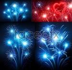Link toBright bloom of fireworks vector