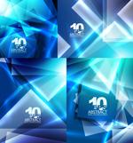 Link toBright blue square background vector