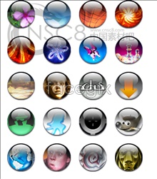 Bright bubble people icons