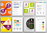 Bright color pages vector