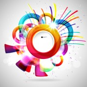 Link toBright colored round abstract background 03 free