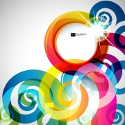 Link toBright colored round abstract background 04 free