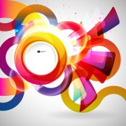 Link toBright colored round abstract background 05 free