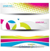Link toBright creative banners vector templates