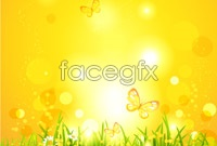 Link toBright flare plant background vector graphics