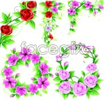 Link toBright flower wreath vector