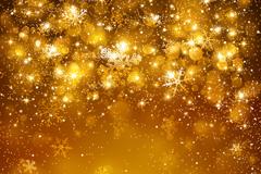 Link toBright golden halo snowflake background vector