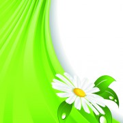 Link toBright green background with flower vector 02 free