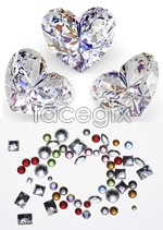 Link toBright heart-shaped diamonds psd