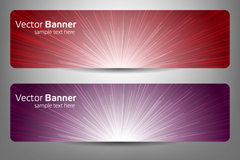 Link toBright light banner vector