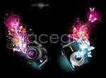 Link toBright light camera vector