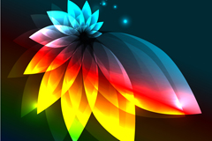 Link toBright light effect petal background vector