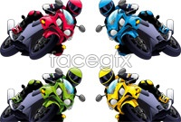 Link toBright motorcycle vector graphics