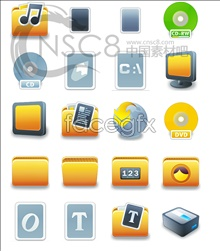 Link toBright plastic material system icons