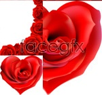Link toBright red petals of roses vector