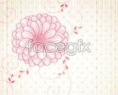 Link tovector background floral spring Bright