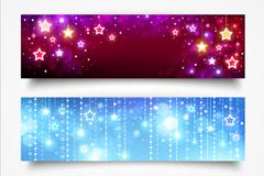 Link toBright star banner vector