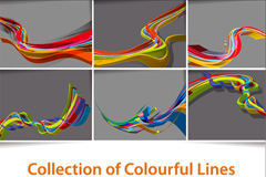 Link toBright three-dimensional dynamic lines vector