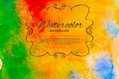 Link toBright watercolor sumi background vector