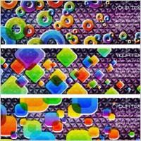 Link toBrilliant color banners 02 vector