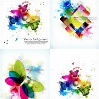 Link toBrilliant color pattern vector
