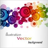 Link toBrilliant colorful loop pattern 01 vector