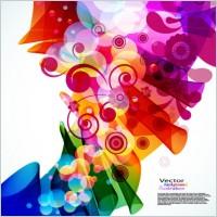 Link toBrilliant colorful loop pattern 02 vector