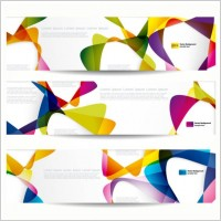 Brilliant dynamic banner05 vector