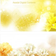 Link toBrilliant flowers background vector 03 free