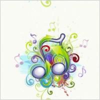 Link toBrilliant music background pattern 01 vector