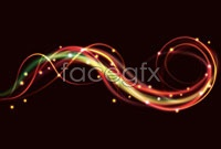 Brilliant neon effects, vector background 1