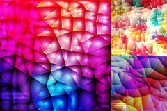 Link toBrilliant stereo fold origami background vector