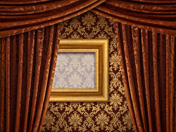 Link toBrown curtains and wall background hd picture material