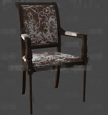 Link toBrown fashion personality chair 3d model