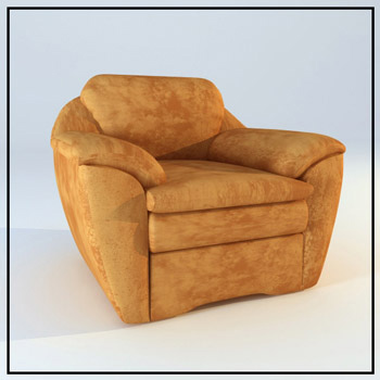 Link toBrown leather single sofa 3d model