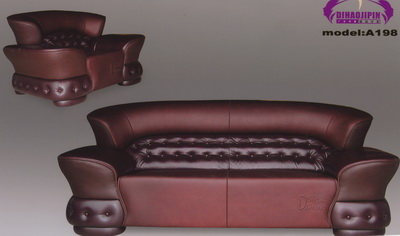 Link toBrown leather sofa 3d model over the boss