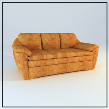 Link toBrown leather sofa model for many people 3d model