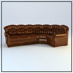 Link toBrown multiplayer leather sofa 3d models