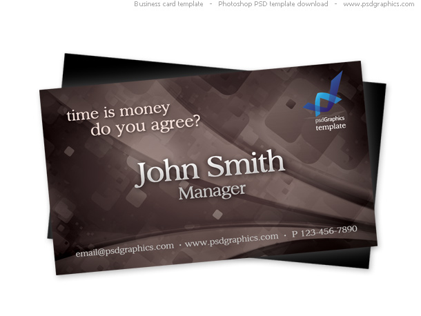Link toBrown retro business card, psd template