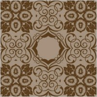 Link toBrown seamless floral wallpaper
