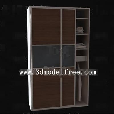 Link toBrown simple two-door wardrobe 3d model