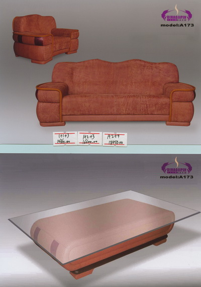 Link toBrown sofa and coffee table 3d model of the boss