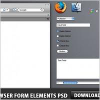 Link toBrowser form elements free psd