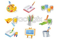 Link toBrush paint cartoons vector icons